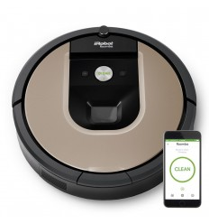 iRobot Roomba 966 Sin bolsa 0.6L Negro, Plata aspiradora robotizada
