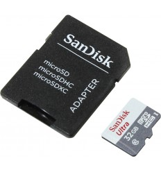 Sandisk Ultra MicroSDHC 32GB UHS-I + SD Adapter memoria flash Clase 10