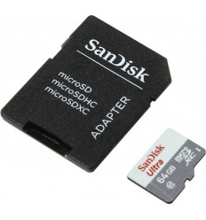 Sandisk Ultra MicroSDXC 64GB UHS-I + SD Adapter memoria flash Clase 10