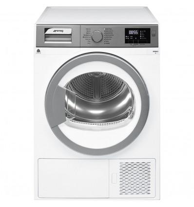 Smeg DHT83EES1 secadora Independiente Carga frontal Plata, Blanco 8 kg A+++